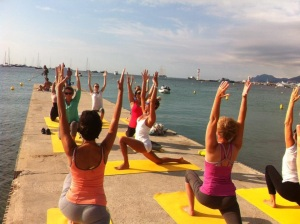 Yoga à Cannes avec Lolë