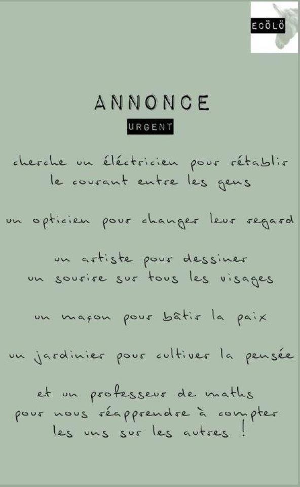 Annonce Cherche